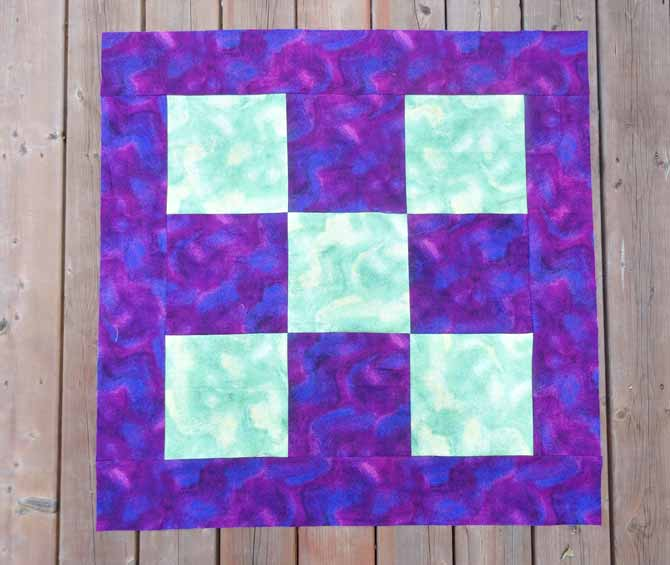 Make a 9 patch block and add the borders.
