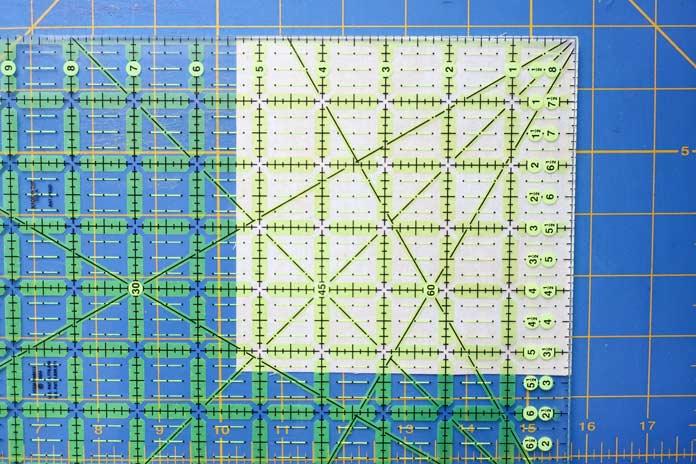 """Fabrics squares cut 5⅜"""" x 5⅜"""" square."""