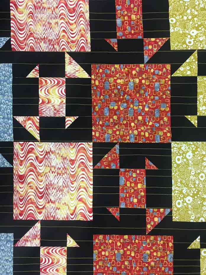 Super simple sophisticated straight line quilting