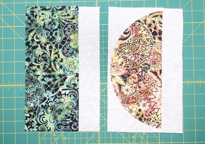 "Sew a 1½"" x 10½"" along 28 pieces of 5"" x 10½""."