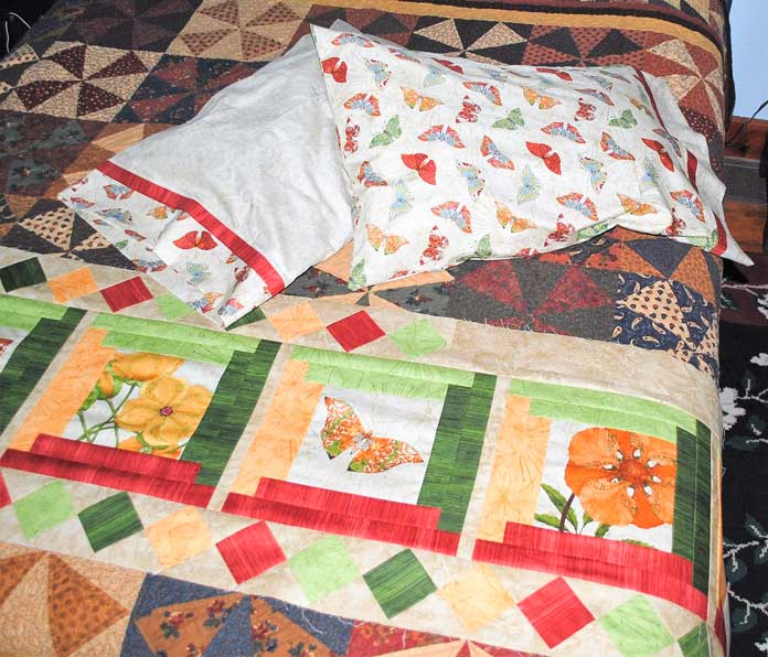 Pillowcases made with Northcott's Artisan Spirit - Euphoria fabrics.