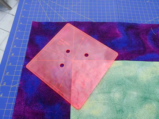 Place the Easy Sew template where all fabrics intersect.