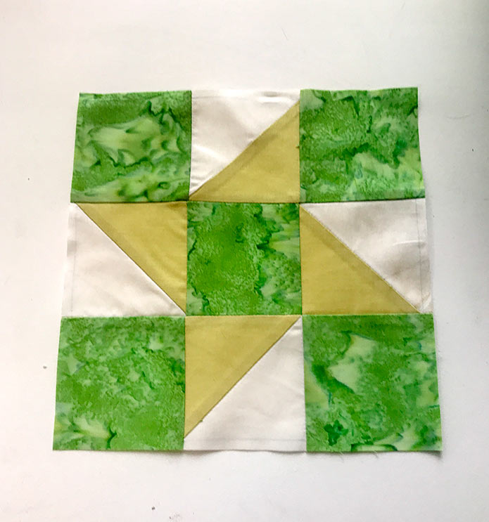 The finished quilt block using Brother ScanNCut SDX225
