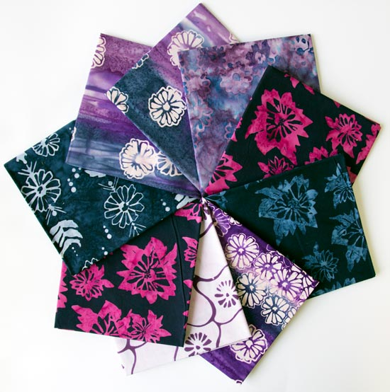 Fat Quarter Bundle of Daisy Chain fabric by Banyan Batiks