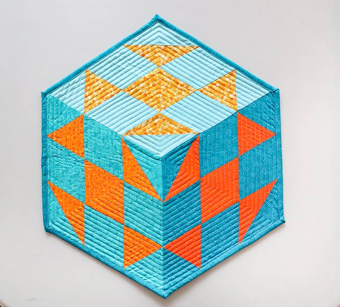 Hexagon quilt with 120° corners
