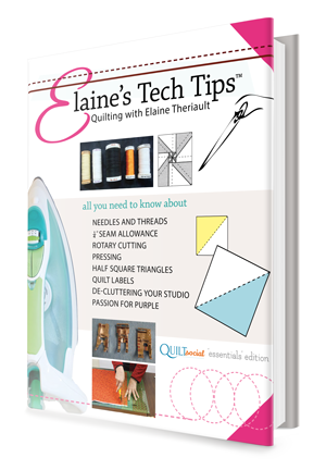 Elaine's Tech Tips Quilting Book cover
