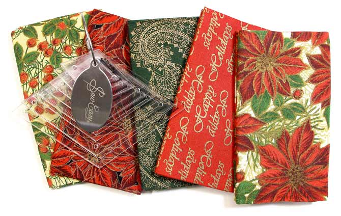 Festive Fabric Bundle and Template Set