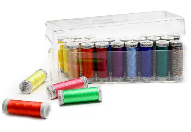 26 colors of Gütermann Dekor Rayon Thread