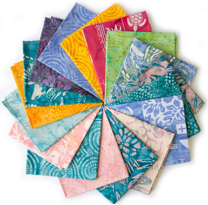 17-Fat Quarter Bundle from the Island Vibes collection by Linda J. Hahn for Banyan Batiks!