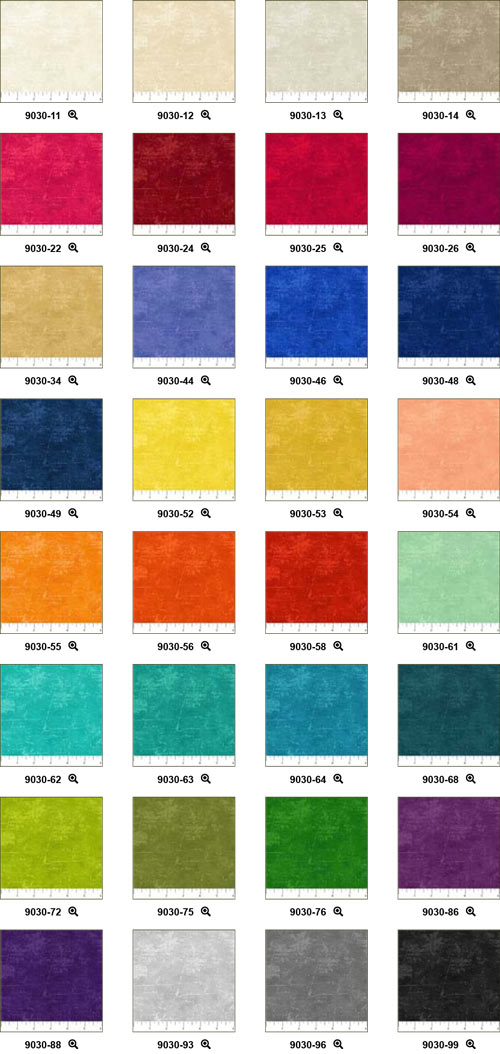 Northcott Fabric, Canvas Collection colorways