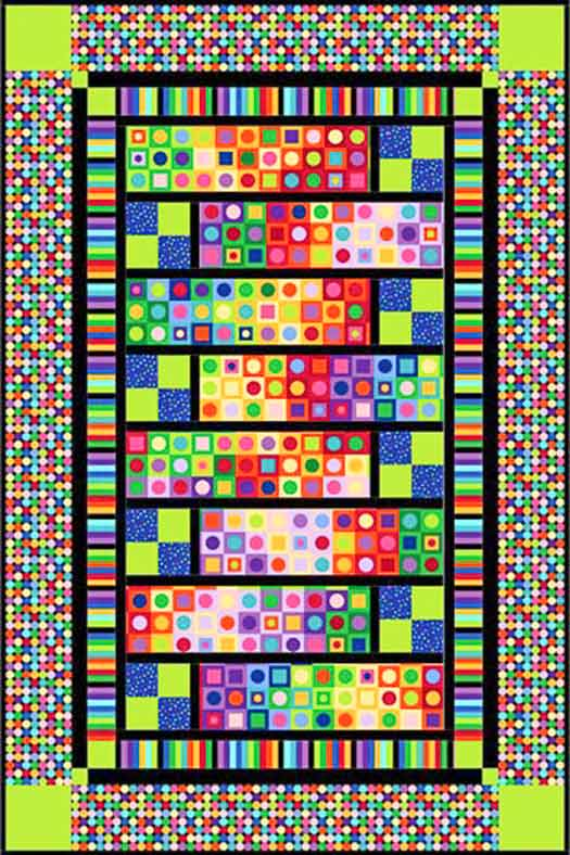 "Northcott Modern Vibe by Upper Canada Quiltworks 51"" x 77"" Mod Squad Panel www.uppercanadaquiltworks.com"