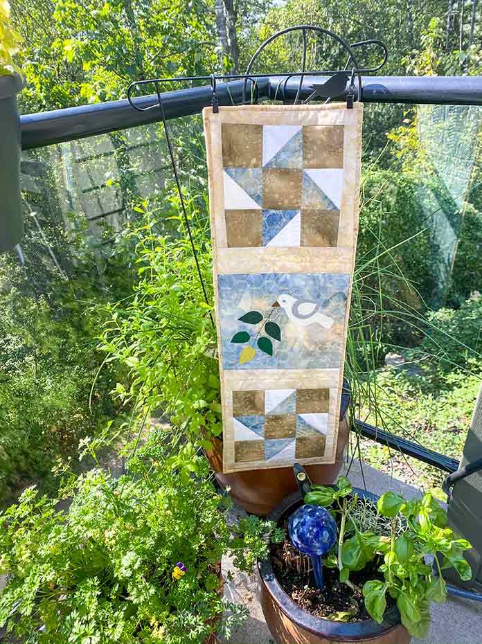 My garden vignette wall hanging