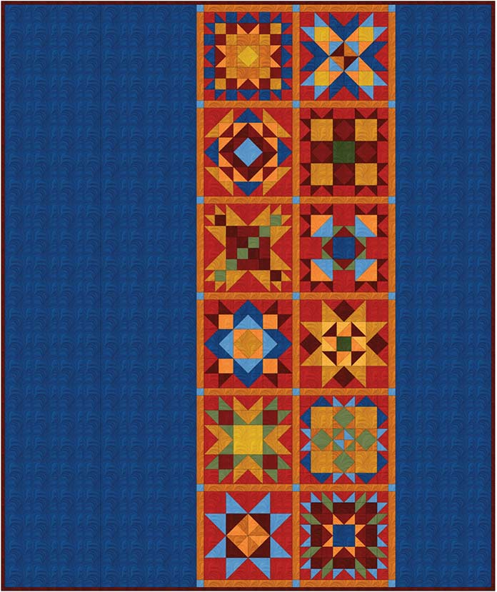 A quilt pattern design created using EQ8.