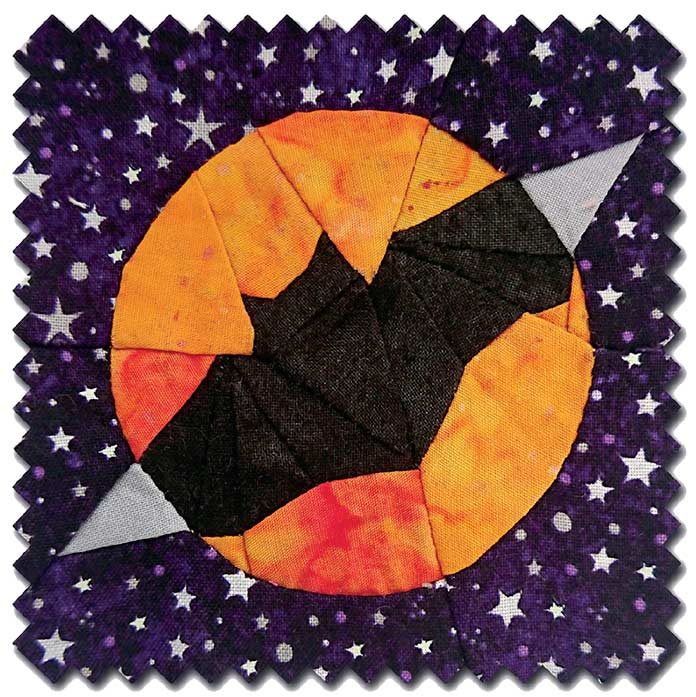 The Dracula Bat Block from 365 Days Quit Scraps, free pattern