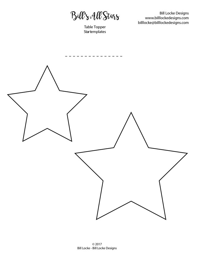 Bill's All Stars template, click on the picture to download PDF
