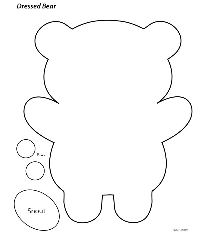 Dressed bear template, click on the picture to download PDF