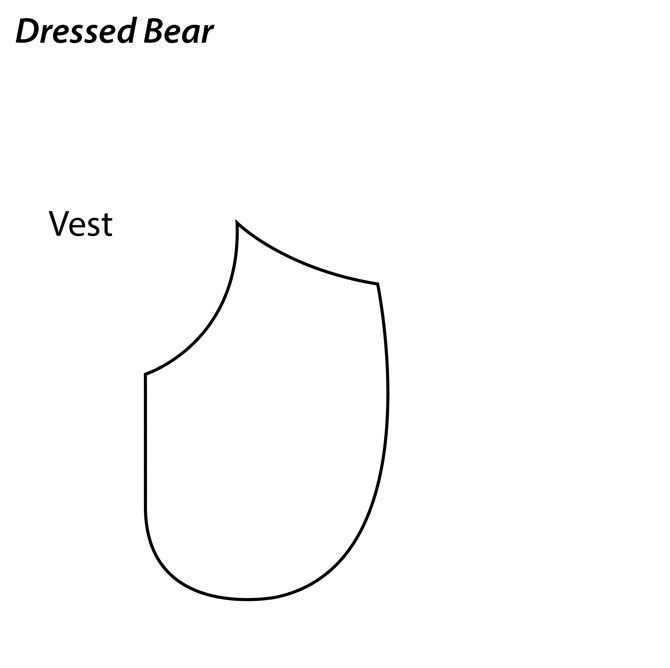 Dressed Bear Vest, click on the picture to download PDF