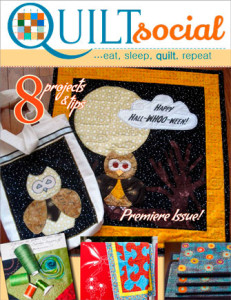 Cover of QUILTsocial Fall 2014 Premiere Issue