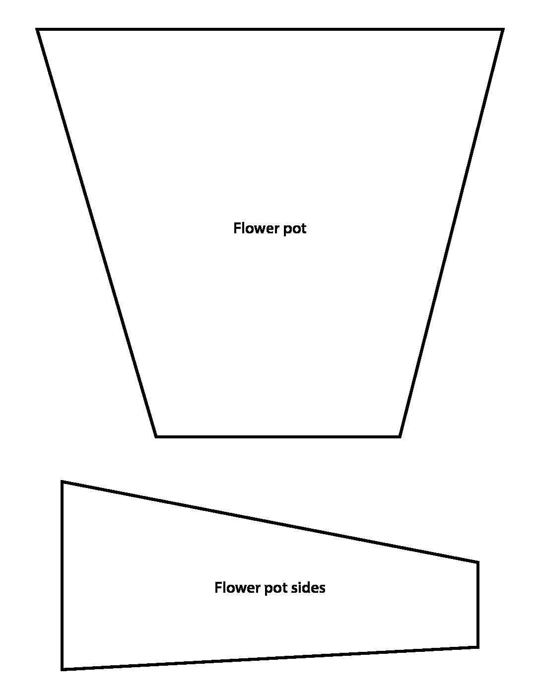 Flower pot template, Click on the picture to download the PDF.
