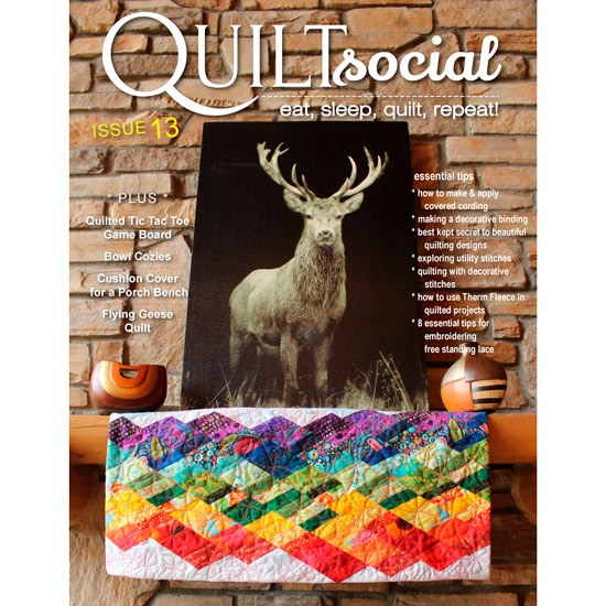 FREE! QUILTsocial Magazine Issue 13 Now Available!