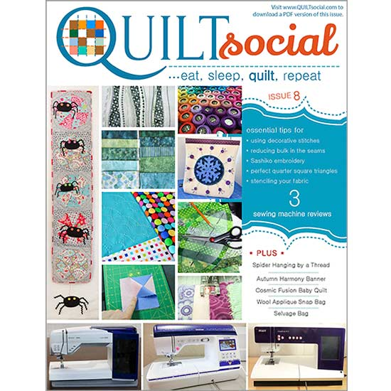 FREE QUILTsocial Magazine Issue 8