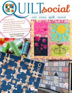 QUILTsocial Spring 2015 Issue Cover Image