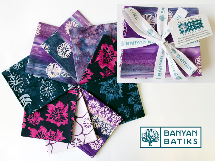Fat Quarter Bundle of Daisy Chain fabric by Banyan Batiks