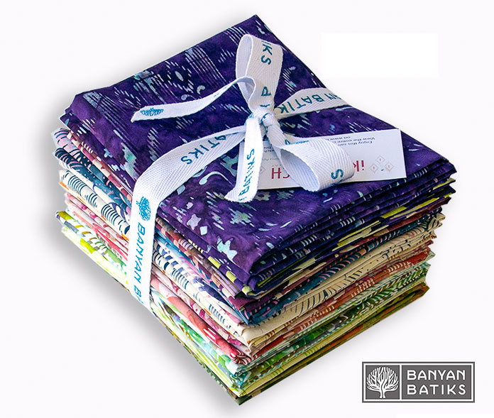 Fat Quarter Bundle of iKat Sketch by Banyan Batiks