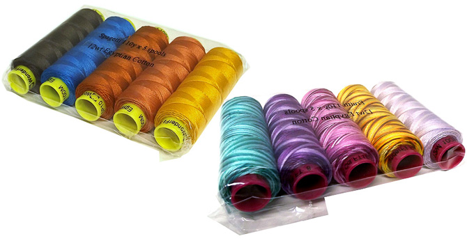 Spagetti and Fruitti thread packs from WonderFil Specialty Threads!