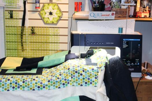 I loved quilting the piece on the PFAFF creative icon!