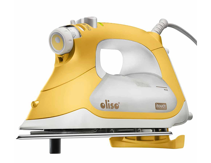 A picture of my lovely yellow Oliso Iron; OLISO PROTM TG1600 Smart Iron – Yellow; free pattern