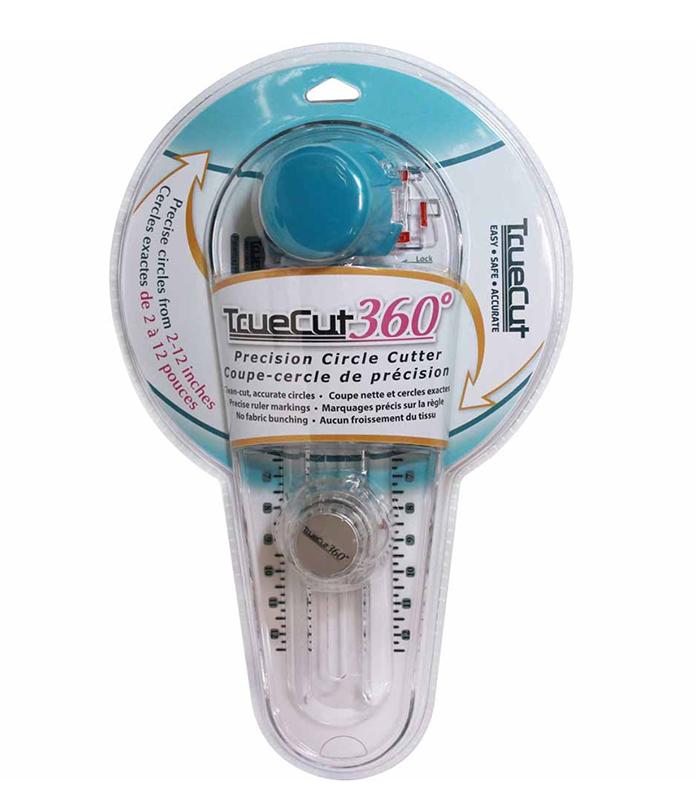 TRUECUT 360° Circle Cutter makes fabric circles easy to cut!