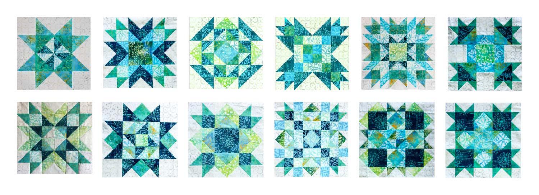 Spectrum QAL Blocks Anthology Fabrics Complete