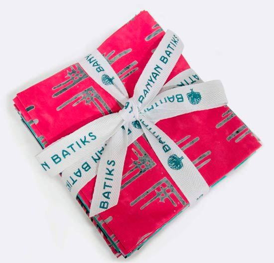 Fat Quarter Bundle of Tie One On by Banyan Batiks