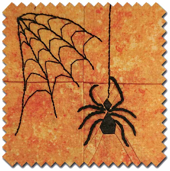The Spider Block from 365 Days Quit Scraps, free pattern
