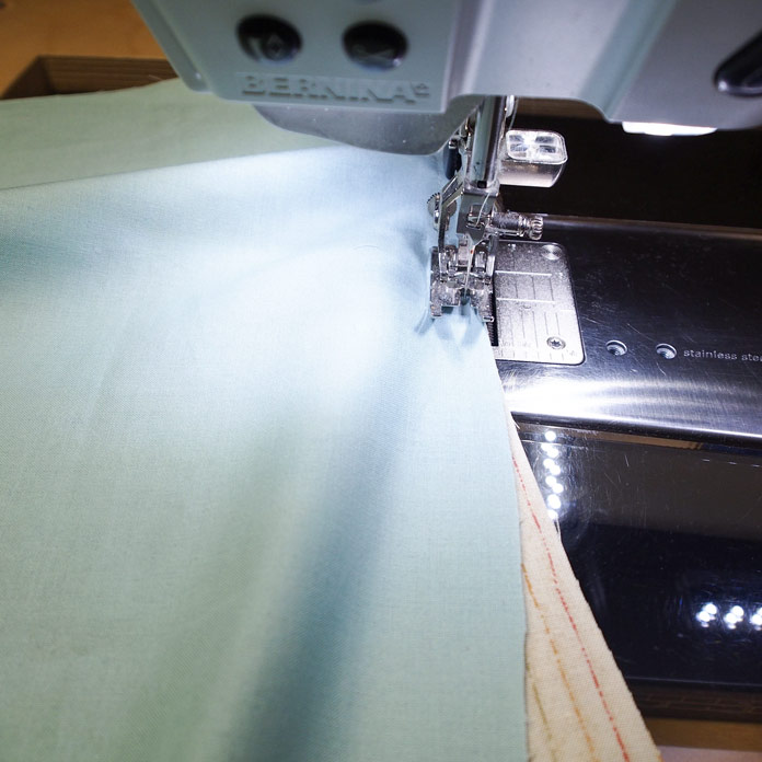 Sewing the curve with a ¼″ foot
