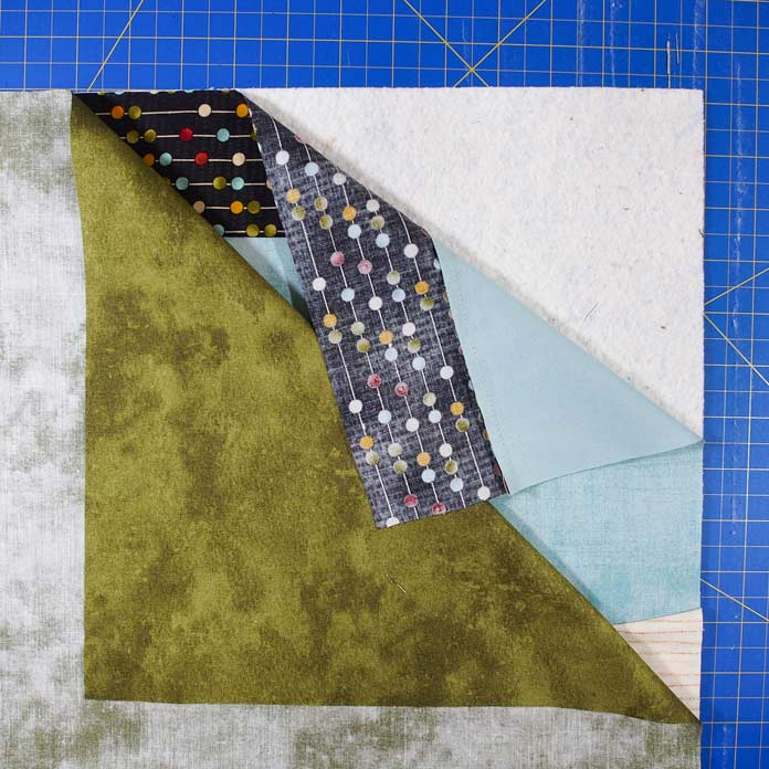 Layer the three layers - batting, top and backing