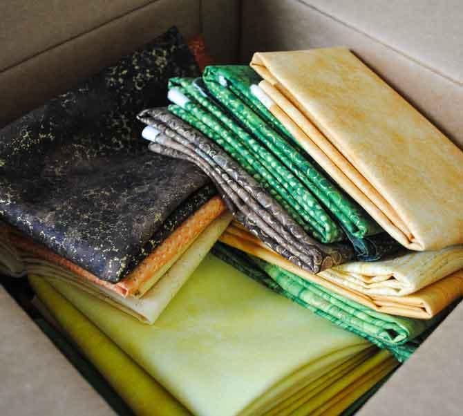 A box of yummy Northcott fabrics