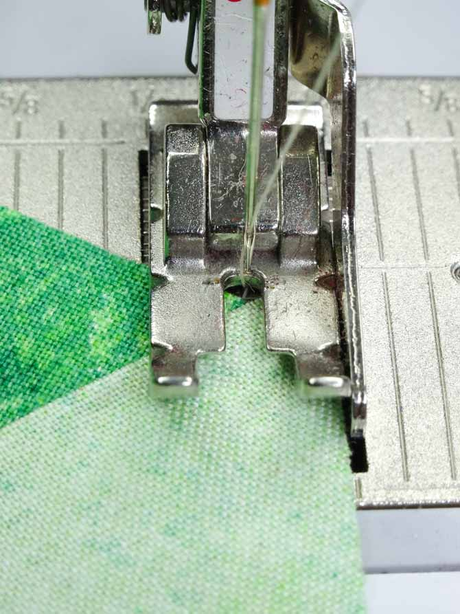 Two correctly placed fabrics ensures the seam will start where the two fabrics intersect.