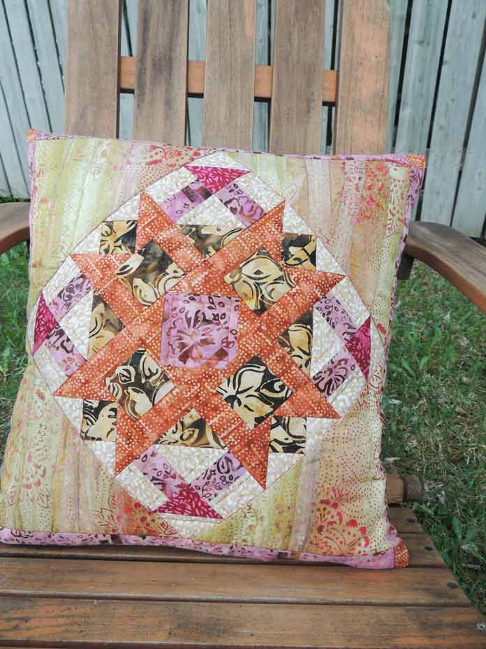 Mary batiks quilted cushion cover