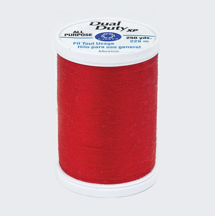 Coats Dual Duty XP All Purpose thread in yummy red