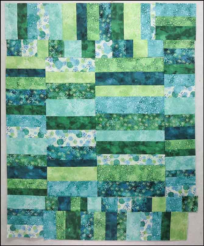 This gives you a good idea about how your modern baby quilt will look.