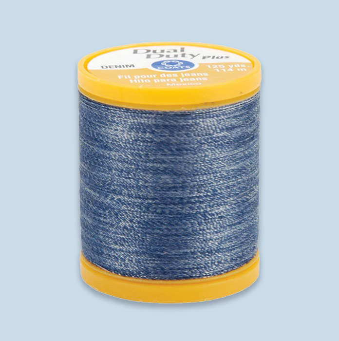 Coats DENIM thread, ideal for all your denim sewing needs.