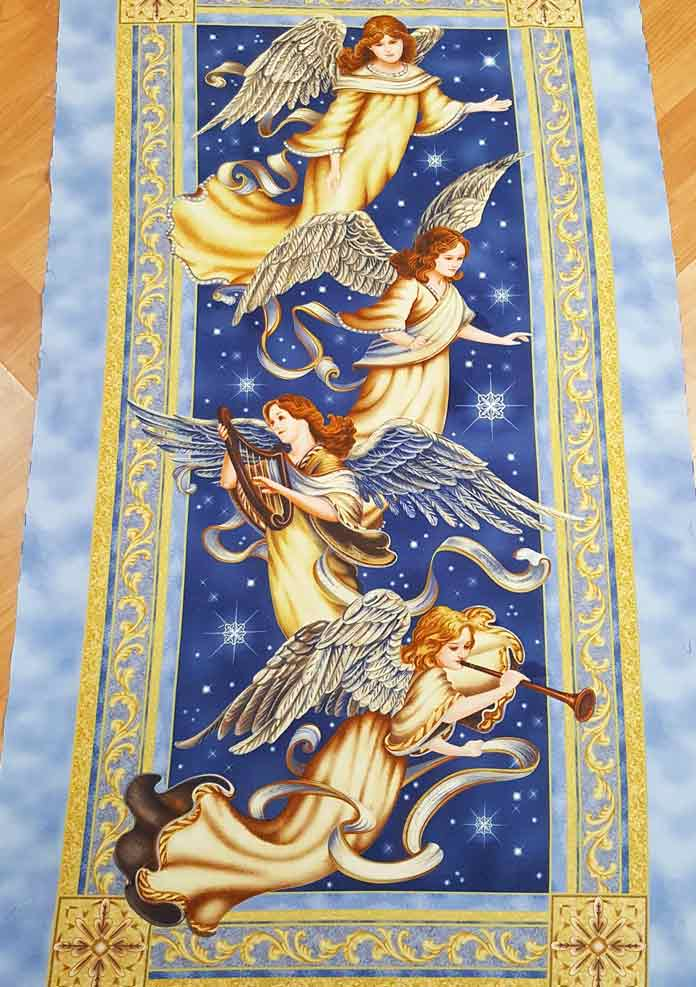 Panel of angels before quilting