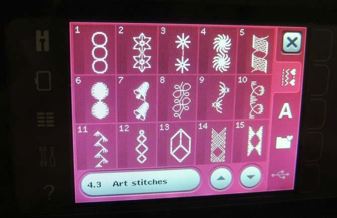 Art stitches menu
