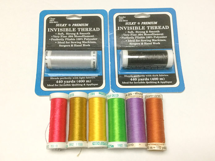 A selection of Sulky and Gütermann polyester threads
