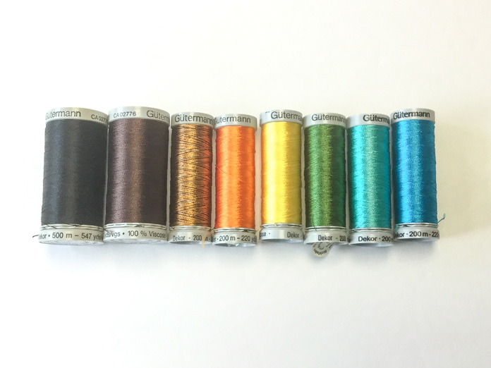 A small selection of Gütermann Dekor rayon thread