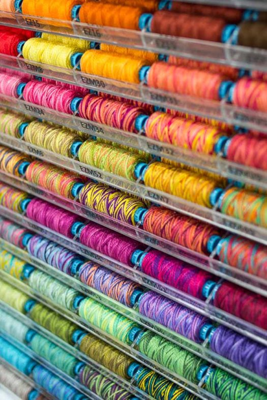 Part of the exquisite variegated color collection of the Eleganza thread