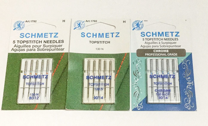 SCHMETZ Topstitch needles come in a variety of sizes both standard and chrome coated; a tutorial on thread painting.