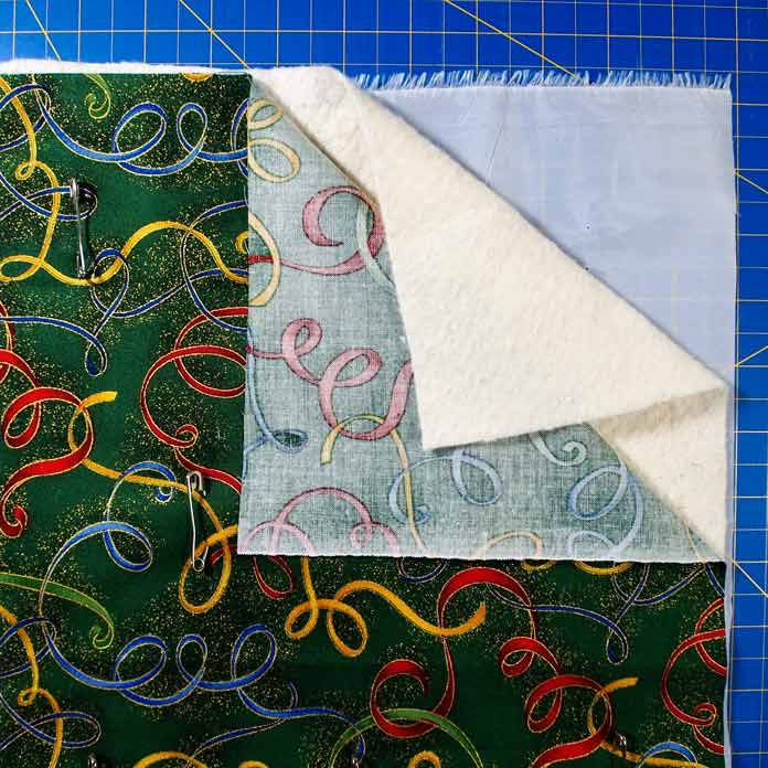 3 layers - fabric, batting and Stitch-N-Steam